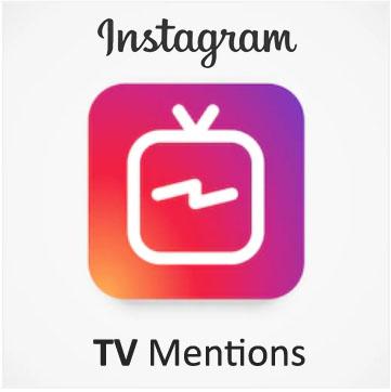 Buy Instagram TV Mentions