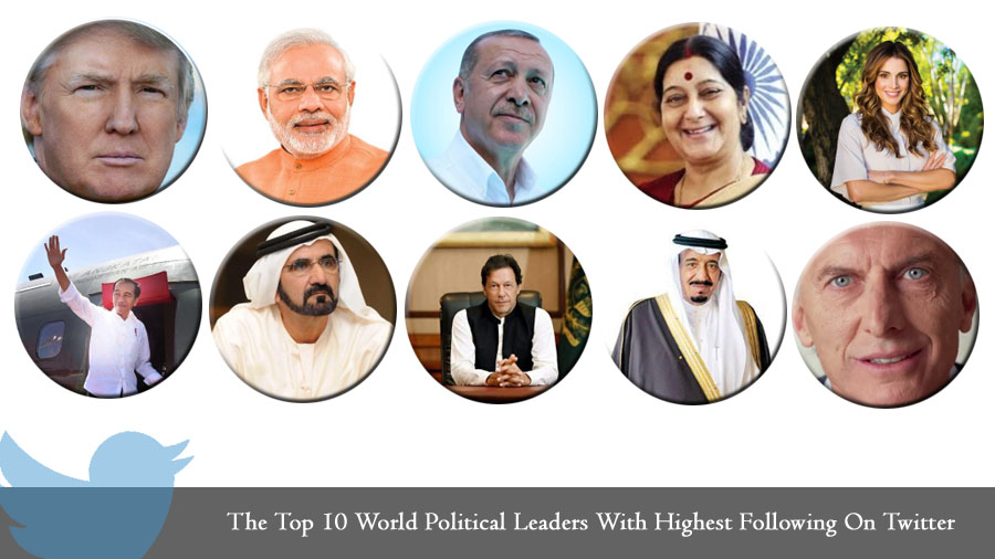 The Top 10 World Political Leaders With Highest Following On Twitter